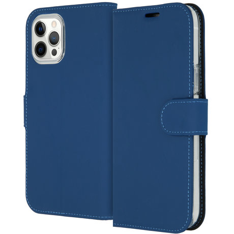 Accezz Wallet Softcase Booktype iPhone 12 Pro Max - Blauw (D)