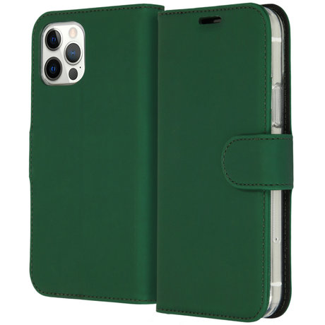 Accezz Wallet Softcase Booktype iPhone 12 (Pro) - Groen (D)