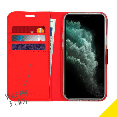 Accezz Wallet Softcase Booktype iPhone 12 (Pro) - Rood (D)