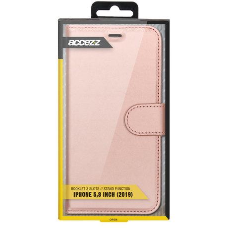 Accezz Wallet Softcase Booktype iPhone 11 Pro - Rosé Goud (D)