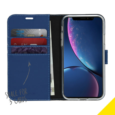 Accezz Wallet Softcase Booktype iPhone 11 - Blauw (D)