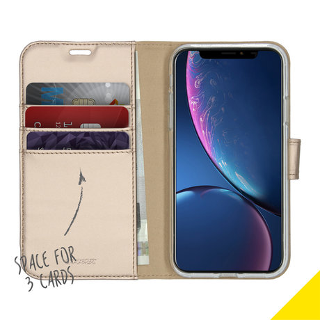 Accezz Wallet Softcase Booktype iPhone 11 - Goud (D)