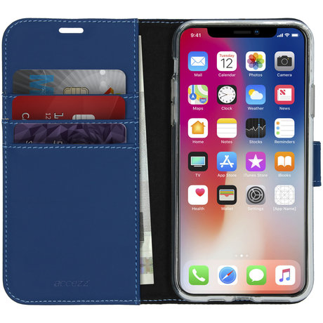Accezz Wallet Softcase Booktype iPhone 11 Pro Max - Blauw (D)