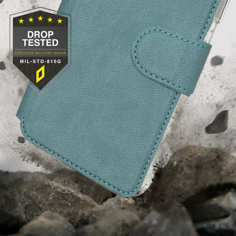 Accezz Xtreme Wallet Booktype iPhone 13 Pro - Lichtblauw (D)