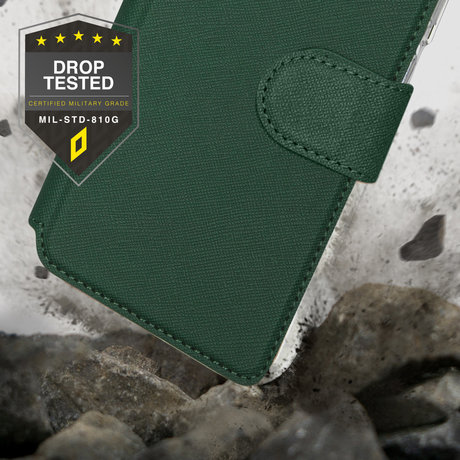 Accezz Xtreme Wallet Booktype iPhone 13 Pro - Donkergroen (D)