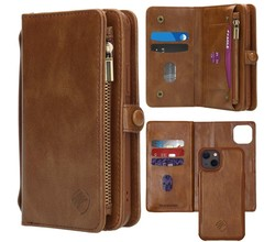 iMoshion iMoshion 2-in-1 Wallet Booktype iPhone 13 - Bruin (D)