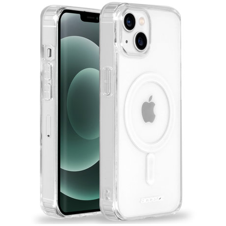 Accezz Clear Backcover met MagSafe iPhone 13 Mini - Transparent (D)