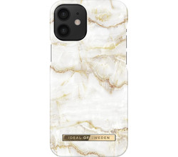 iDeal of Sweden iDeal of Sweden Fashion Backcover iPhone 12 Mini - Golden Pearl Marble (D)