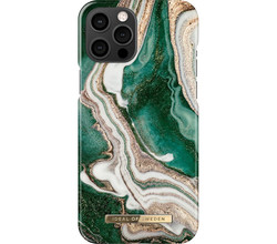 iDeal of Sweden iDeal of Sweden Fashion Backcover iPhone 12 Pro Max - Golden Jade Marble (D)