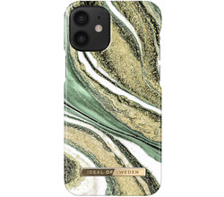 iDeal of Sweden iDeal of Sweden Fashion Backcover iPhone 12 Mini - Cosmic Green Swirl (D)
