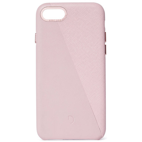 Decoded Dual Leather Backcover iPhone SE (2020) / 8 / 7 - Roze (D)