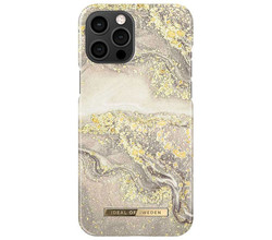 iDeal of Sweden iDeal of Sweden Fashion Backcover iPhone 12 Pro Max - Sparkle Greige Marble (D)
