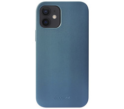 Accezz Accezz Leather Backcover met MagSafe iPhone 12 Mini - Donkerblauw (D)