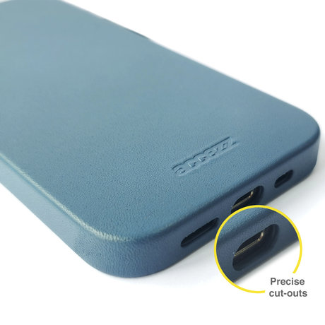 Accezz Leather Backcover met MagSafe iPhone 12 Mini - Donkerblauw (D)