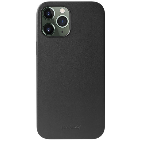 Accezz Leather Backcover met MagSafe iPhone 12 (Pro) - Zwart (D)