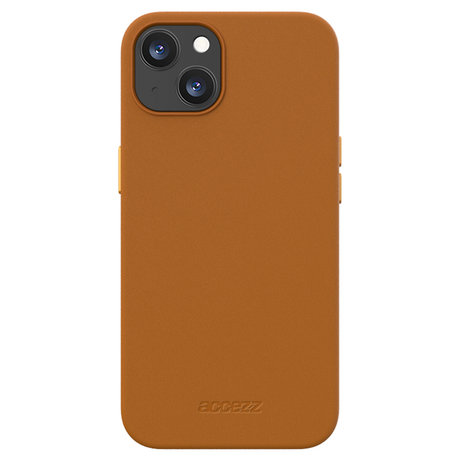 Accezz Leather Backcover met MagSafe iPhone 13 - Bruin (D)