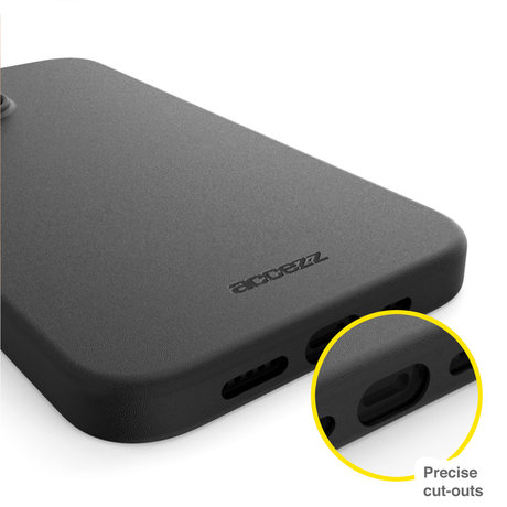 Accezz Leather Backcover met MagSafe iPhone 13 Mini - Zwart (D)