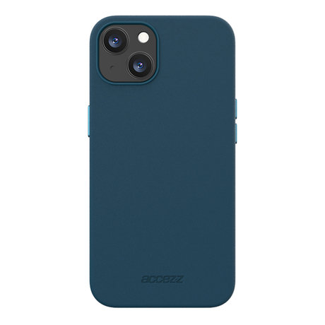 Accezz Leather Backcover met MagSafe iPhone 13 Mini - Donkerblauw (D)