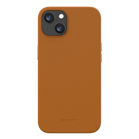 Accezz Leather Backcover met MagSafe iPhone 13 Mini - Bruin (D)
