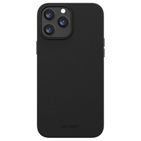 Accezz Leather Backcover met MagSafe iPhone 13 Pro - Zwart (D)