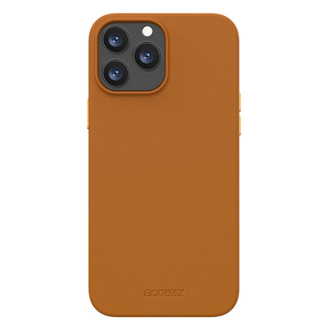 Accezz Leather Backcover met MagSafe iPhone 13 Pro - Bruin (D)