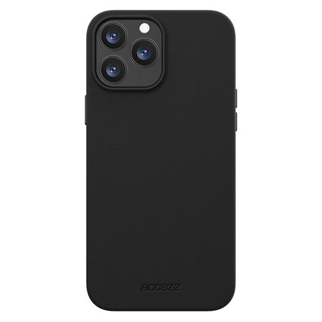 Accezz Leather Backcover met MagSafe iPhone 13 Pro Max - Zwart (D)
