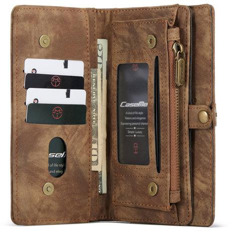 CaseMe Luxe Lederen 2 in 1 Portemonnee Booktype iPhone 12 Mini (D)