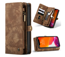 CaseMe CaseMe Luxe Lederen 2 in 1 Portemonnee Booktype iPhone 12 (Pro) (D)