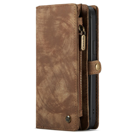 CaseMe Luxe Lederen 2 in 1 Portemonnee Booktype iPhone 12 (Pro) (D)