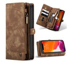 CaseMe CaseMe Luxe Lederen 2 in 1 Portemonnee Booktype iPhone 12 Pro Max (D)