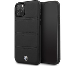 BMW BMW Leather Backcover iPhone 11 Pro Max - Zwart (D)