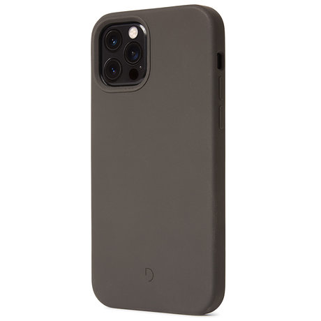 Decoded Silicone Backcover MagSafe iPhone 12 (Pro) - Charcoal (D)