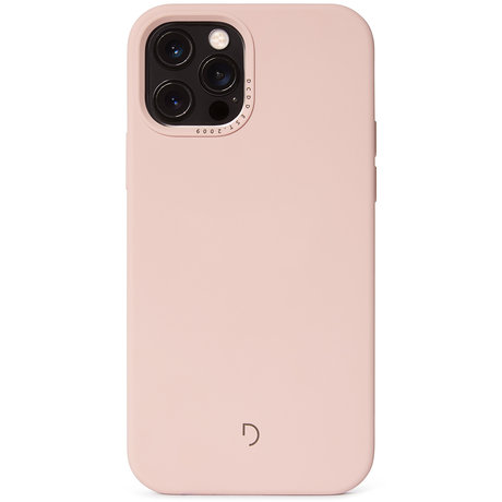 Decoded Silicone Backcover MagSafe iPhone 12 (Pro) - Powder Pink (D)