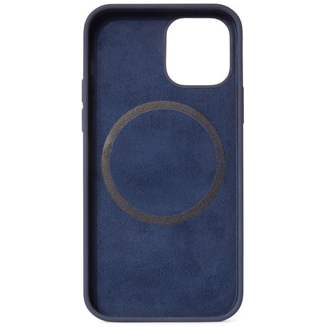 Decoded Silicone Backcover MagSafe iPhone 12 (Pro) - Matte Navy (D)