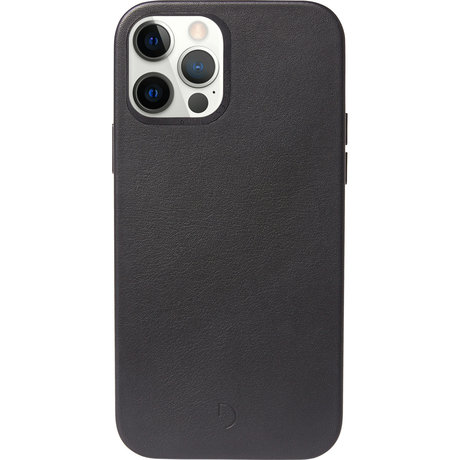 Decoded Leather Backcover MagSafe iPhone 12 (Pro) - Zwart (D)