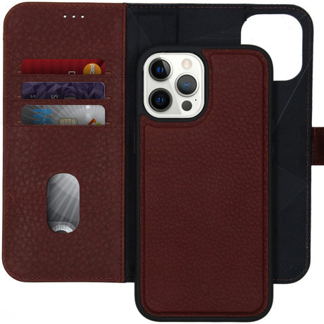 Decoded 2 in 1 Leather Detachable Wallet iPhone 12 Pro Max - Bruin (D)