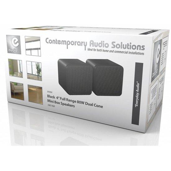 E-audio E-Audio B406A zwarte 4 inch full range mini luidspreker set 80 watt