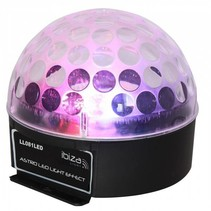 Ibiza ASTRO1 LED disco licht effect muziekgestuurd met 3 watt RGB LED's
