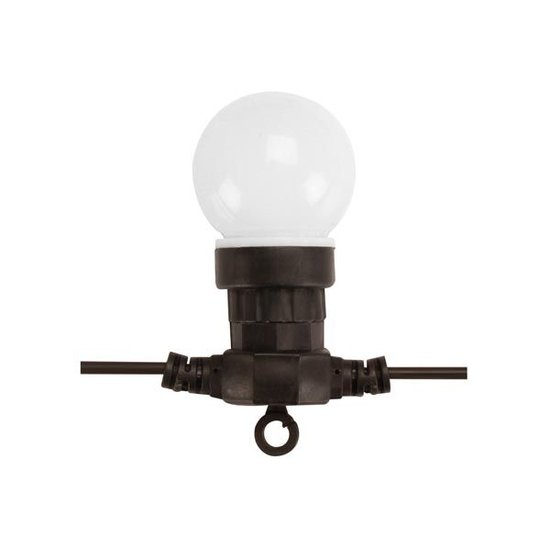 HQ POWER LED-feestslinger 9,5 meter met 10 warmwitte lampen