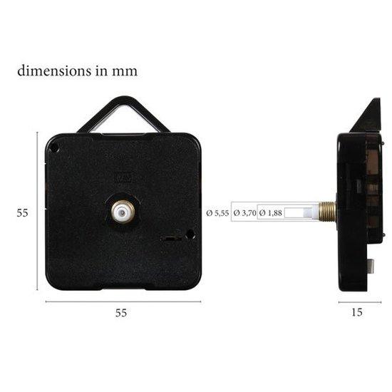 Velleman Kwartsklok mechanisme los uurwerk met 3 wijzers