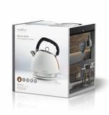 Nedis Nedis elektrische waterkoker 1,8 liter soft-touch wit