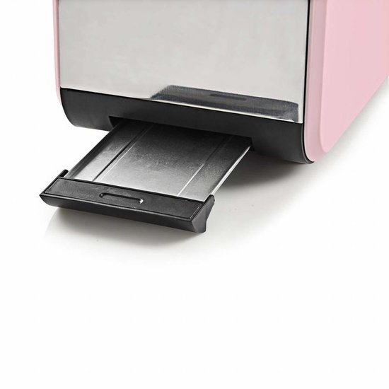Nedis B.V. Nedis broodrooster 2 brede sleuven roze met soft-touch