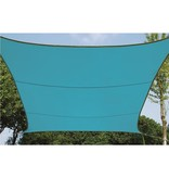 Perel Waterafstotend zonnedoek vierkant hemelsblauw 5 x 5 meter