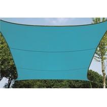 Waterafstotend zonnedoek vierkant hemelsblauw 5 x 5 meter