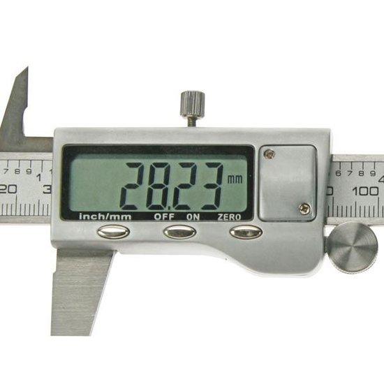 Toolland Toolland digitale schuifmaat 150 mm met groot scherm