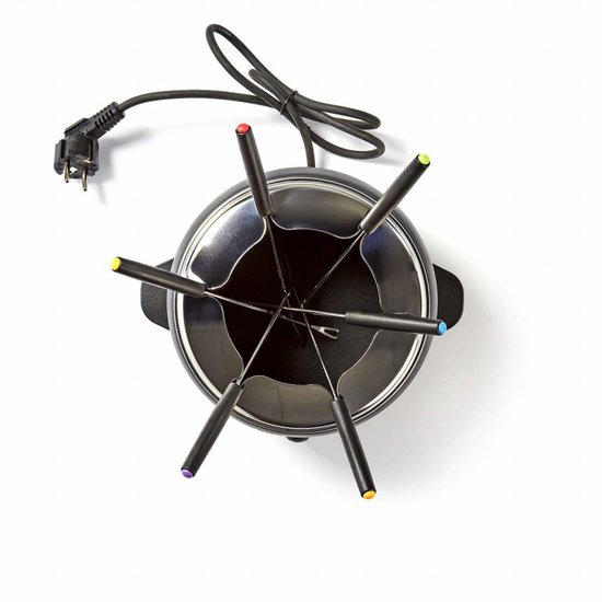 Nedis B.V. Nedis Elektrische Fonduepan met 6 Fonduevorkjes
