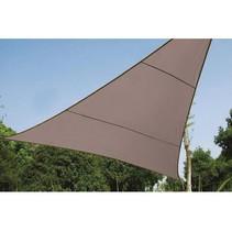 Zonnezeil  driehoek 3.6 x 3.6 x 3.6 meter taupe