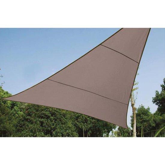 Perel Zonnezeil  driehoek 3.6 x 3.6 x 3.6 meter taupe