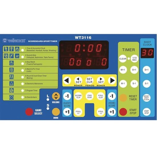 Velleman Velleman WT3116 digitaal scorebord