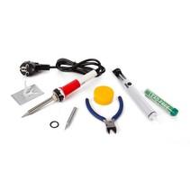 Velleman K/SOLD3 elektrische soldeerset met tin en tang